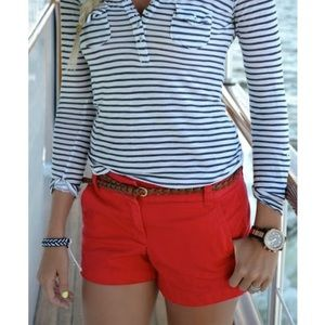 "J. Crew 3"" Chino Shorts in Red"